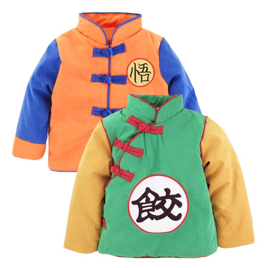 Baby Boy Girl Goku Costume Winter Jacket Toddler DBZ Outwear Coat Cute Halloween Party Winter Clothes