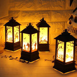 1pc Halloween Artificial Flame Decor Pumpkin Decoration Witch Decoration LED Lights Handheld Oil Lamp LED Halloween Decoration