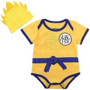 2PCS Baby Boy Baby Girl DBZ Bodysuit Costume Infant with Hat Cute Set