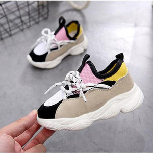 Kids Shoes For Boys Girl Children Casual Sneakers Baby Girl Air Mesh Breathable Soft Running Sports Shoe Pink Blue