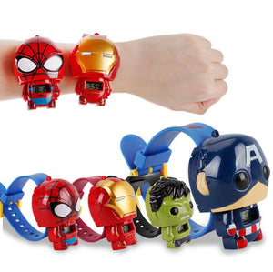 Hot The Avengers 3 Electric Kids Boy Watch Hulk Ironman Starwars Figure Model Toys Action Figures For Children Gifts