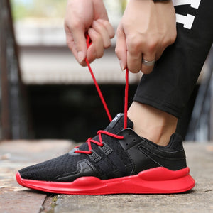 2019 Outdoor for adult men running shoes jogging walking sport shoes high-quality lace-up Athletic Breathable mesh man sneakers
