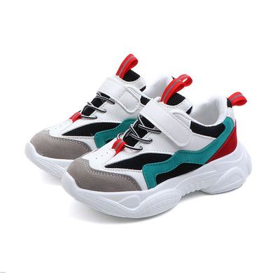 2019 New Spring Kids Shoes Mesh Color Matching Children's Tennis Breathable Sport Shoes Fashion Footwear Girls Boys Sneakers