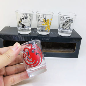 4pcs Set Cup Creative Glasses Ceramic Mini Wine Glass Spirit Glass Cup Set