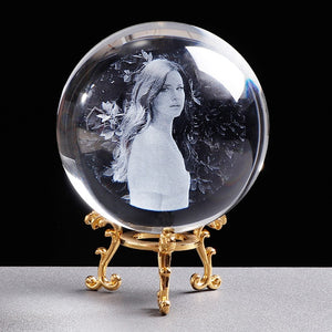 Personalized Glass Photo Ball Customized Crystal Picture Sphere Globe Home Decor Accessories Baby Photo