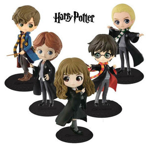 Cute Big eyes Harry Potter Ron Weasley Hermione Granger Draco Malfoy Newt Scamander Vinyl Figure Model Toys 15cm