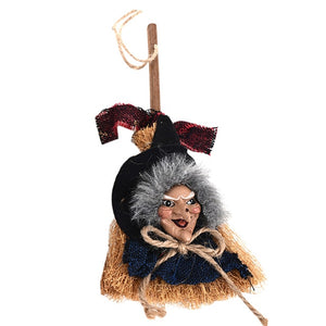 Halloween Props Scary Ghost Dolls Witch Broom Toys Linen Props Halloween Pendant Ghost Party Decoration Horror Toys