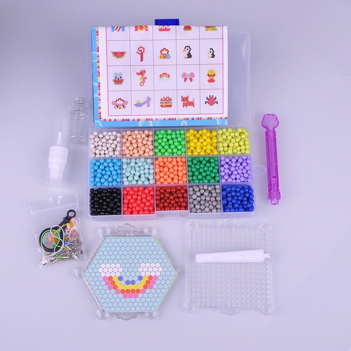 2200 Beads Water Spray Toys Stickey Beads Perler Fuse Toy Beads Educational DIY Present For Child