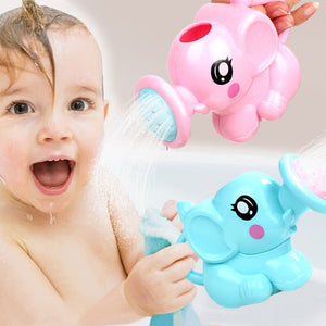 Swimming Bathing Toys Small Elephant Watering Pot For Children Kids Baby Showering M09