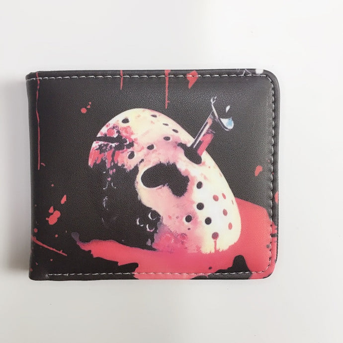 New Friday the 13th Short Wallet Purse Handbags Fashion Women's Cartoon Young Men Coin Purse Student Gift W1177Y