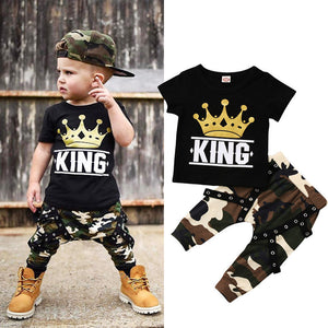 Boy Set 0-5Y Newborn Kids Baby Boys Tops T-shirt Camo Pants 2PCS Outfits Set Clothes 0-5Years