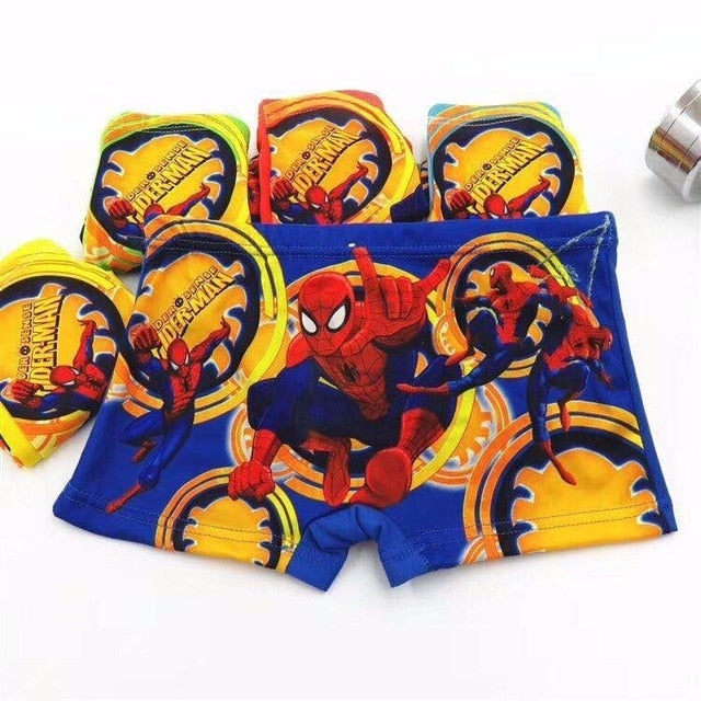 5pcs/lot Underpants Briefs for Boys Underwears Panties Infant Boxer Briefs Spiderman Cotton Teenagers Underwears for 3-8 Y