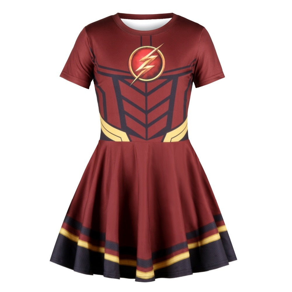 Kids Avengers: Endgame Dress for kids girls Children cosplay The Flash Dress Tutu Carnival Halloween Costume Cute princess dress