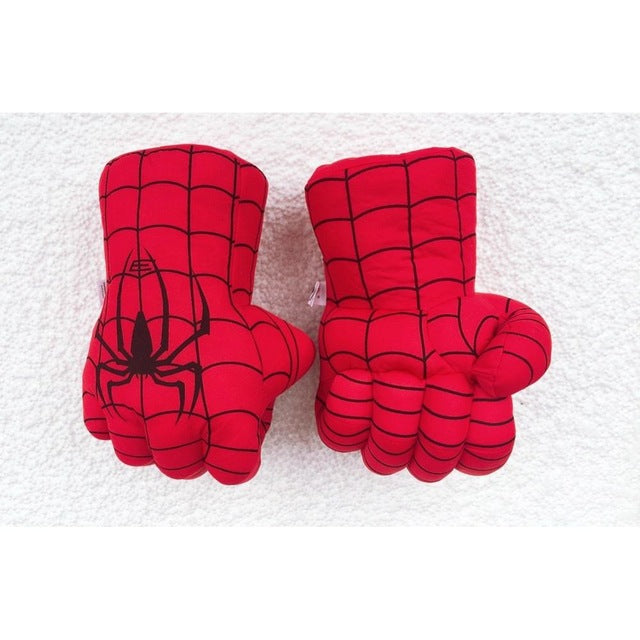 Hulk, Thanos, Ironman, Spiderman Superhero Gloves Hands Fists for Kids, Accessories to Hulk, Thanos, Ironman, Spiderman Costumes, 1 Pair