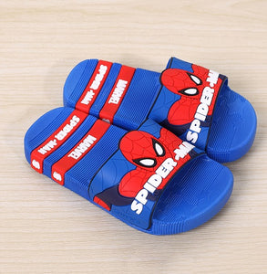 2019 baby girls boys slippers children slaps rubber cartoon captain america Iron spiderman kids home sandal shower shoes FA031