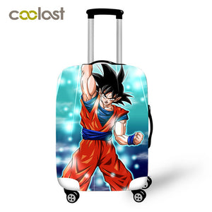 Dragon Ball Luggage Cover for 18-32Inch Trip Bag CoverElastic Saiyan Goku Vegeta Travel Accessories Suitcase Protective Cover