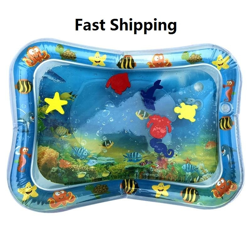 2019 Hot Sales Baby Kids Water Play Mat Inflatable Infant Tummy Time Playmat Toddler for Baby Fun Activity Play Center