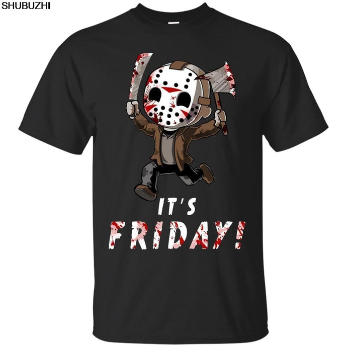 Jason Voorhees T-shirt It's Friday T-shirt Friday The 13th Horror Movie S-3XL T Shirt Men Funny Tee Shirts Short Sleeve