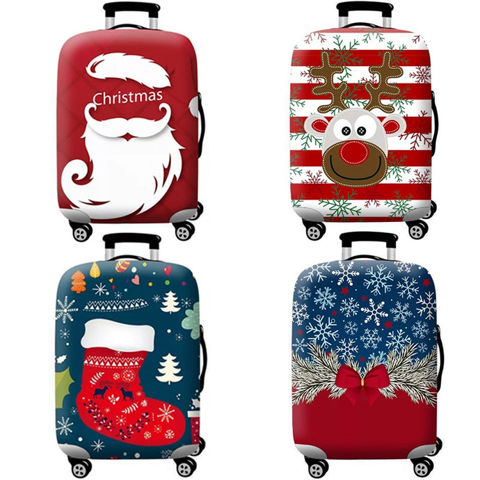 Christmas pattern Stretch Fabric Luggage Protective Cover Suit 18-32 Inch Trolley Suitcase Case Covers Travel Accessories