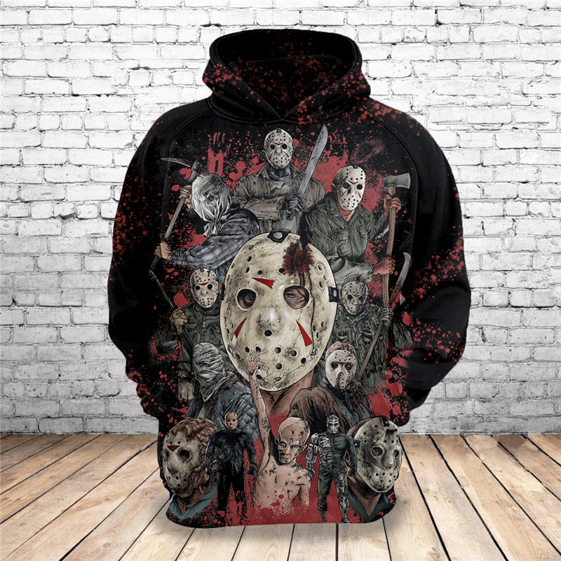 4db8c6aa 2019 Hot New Sweatshirt Customize Halloween Horror Movies Jason 3D Pri –  Uniwiin Store - Unique Gifts Family