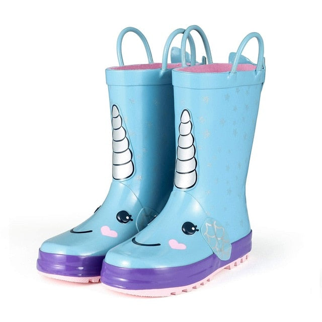 Rain Boots Kids Girl Cute Unicorn Printed Children's