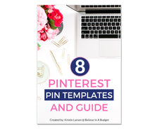 Load image into Gallery viewer, 8 Pinterest Pin Template Pack