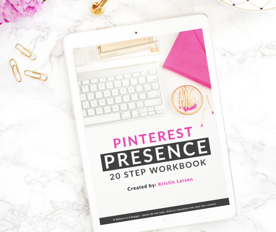 Pinterest Presence: 20 Step Workbook