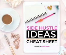 Load image into Gallery viewer, Side Hustle Ideas Cheat Sheet