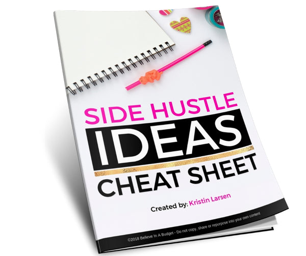 Side Hustle Ideas Cheat Sheet