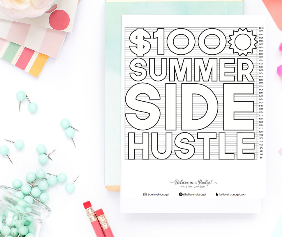 Summer Side Hustle Coloring Chart