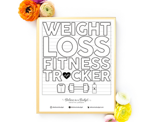 Weight Loss Tracking Coloring Chart