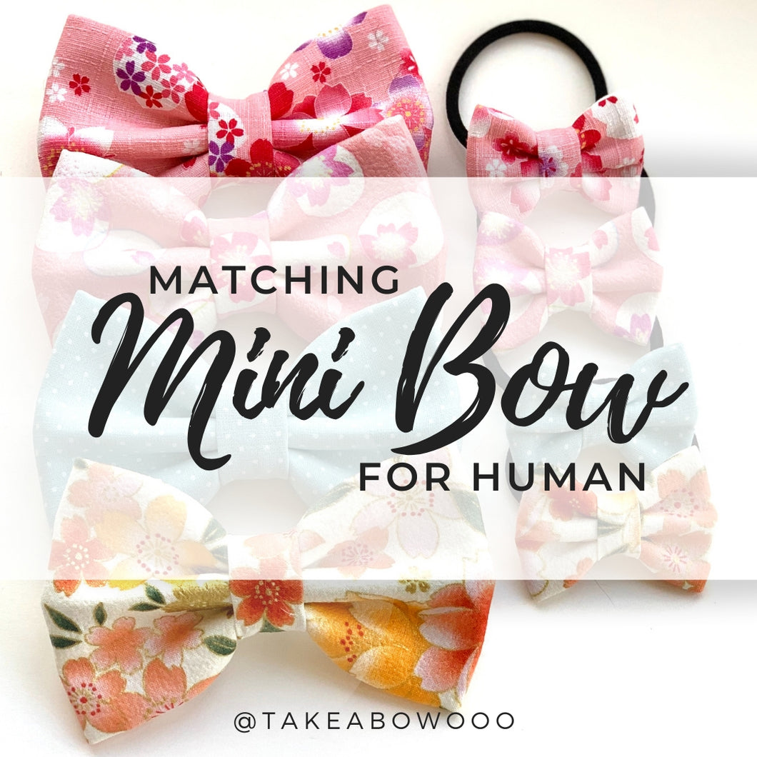 MATCHING MINI BOW - for Human