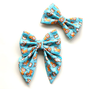 CORGI PLAYDATE - SAILOR BOW