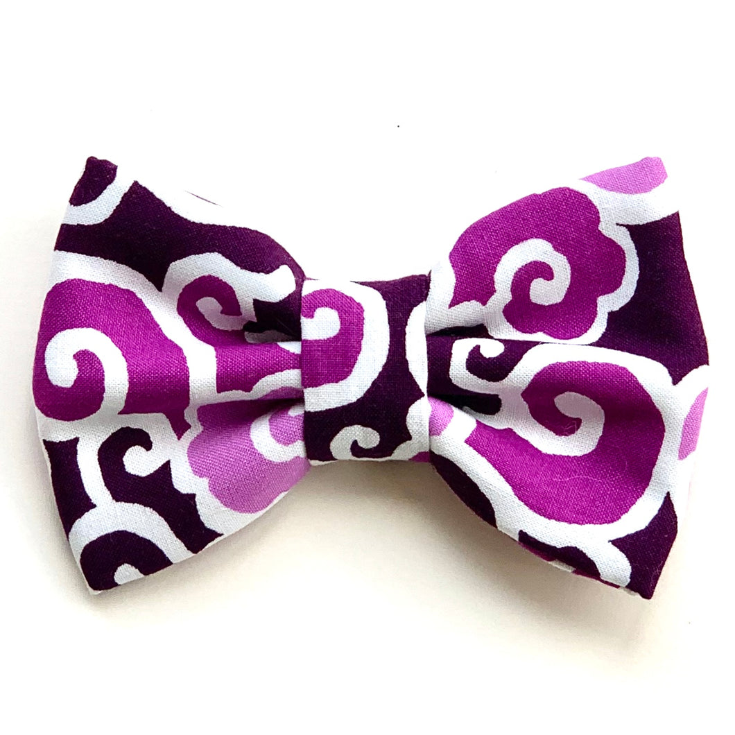 KUMO CLOUDS PURPLE - Bowtie XL // READY TO SHIP