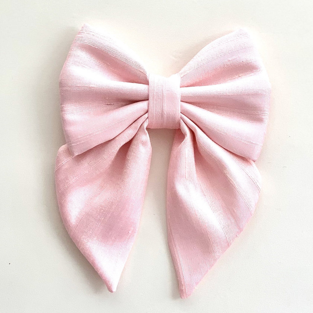 THAI SILK - ROSE QUARTZ - SAILOR BOW