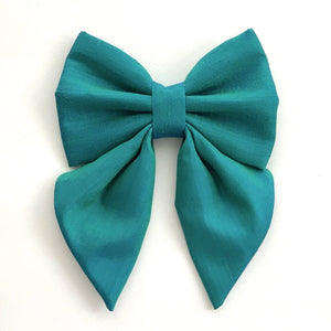 THAI SILK - EMERALD - SAILOR BOW