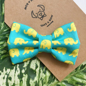 OH MY ELEPHANT - TEAL - SAILOR BOW
