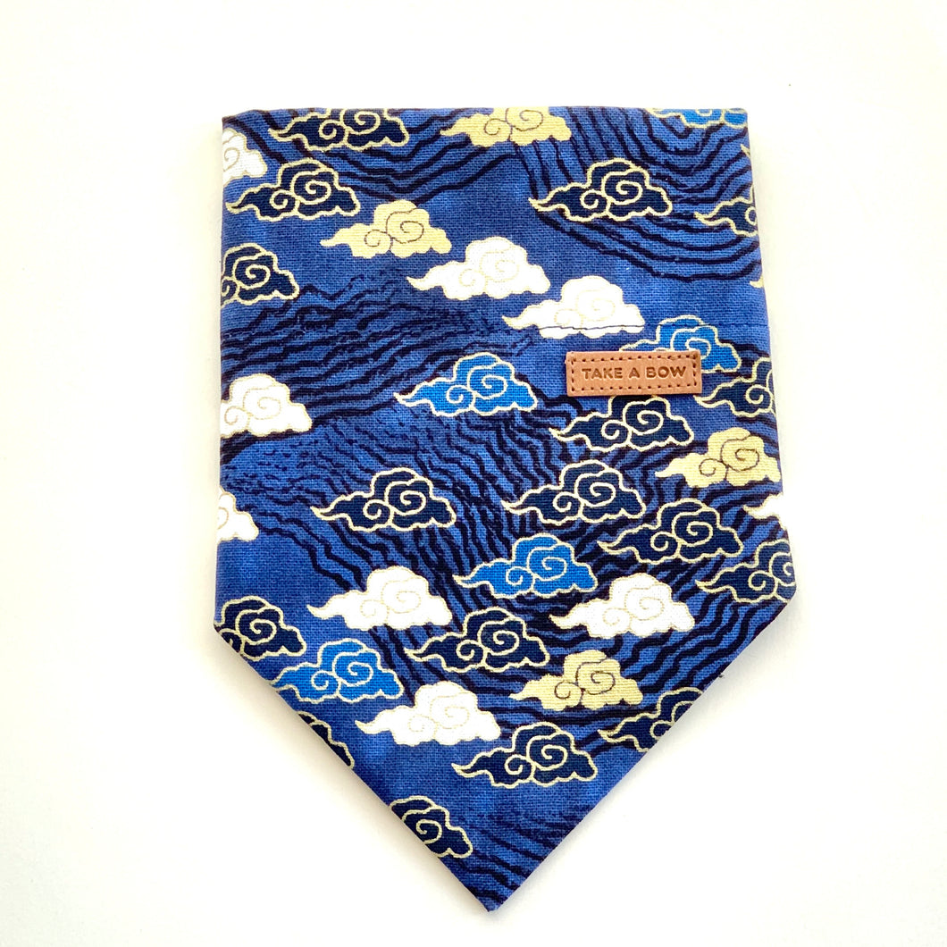 UNKI CLOUDS - BLUE - BANDANA