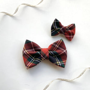 FIREWOOD PLAID - MINI BOW for Human