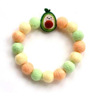 AVOCADO POMPOM NECKLACE