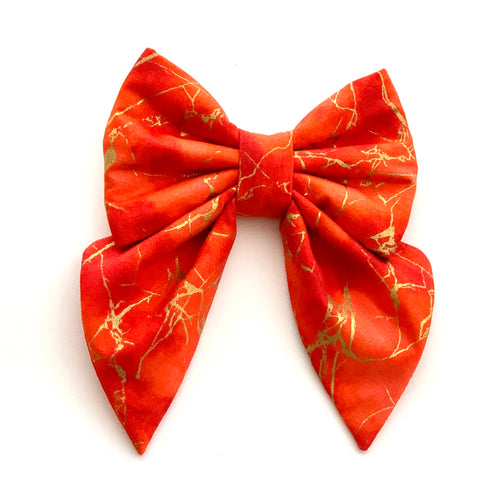 RED MARBLE - SAILOR BOW