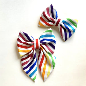 RAINBOW STRIPES - SAILOR BOW