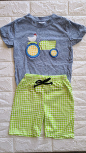 Tractor Tee and Short Set