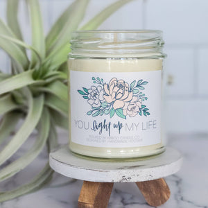 You Light Up My Life Soy Candle by Abboo Candle Co