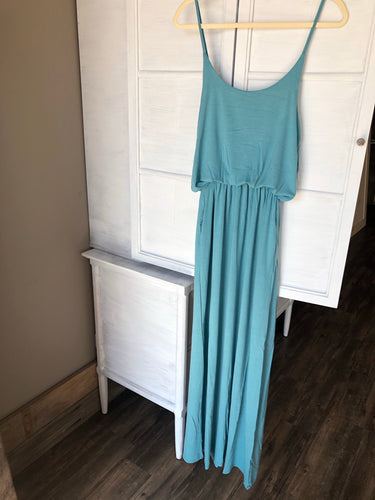 Dusty Teal Maxi Dress