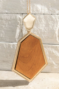 Light Brown Pendant Necklace