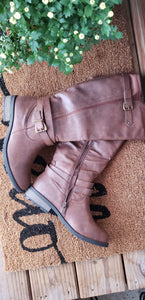 Buckle Accent Riding Boots