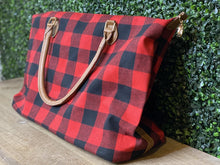 Load image into Gallery viewer, Buffalo Plaid Weekender Bag