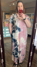 Load image into Gallery viewer, Curvy Tie Dye Maxi Dress