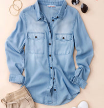 Load image into Gallery viewer, Denim Button Down Shirt